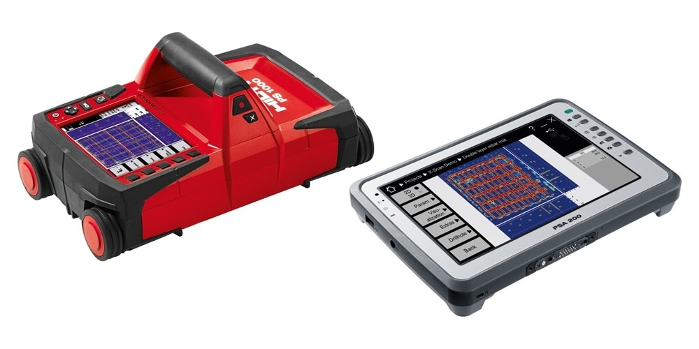 Hilti PS 1000 X-Scan detection system and PSA 200 Tablet