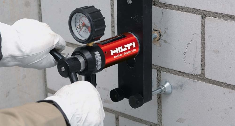 Hilti engineering services onsite testing