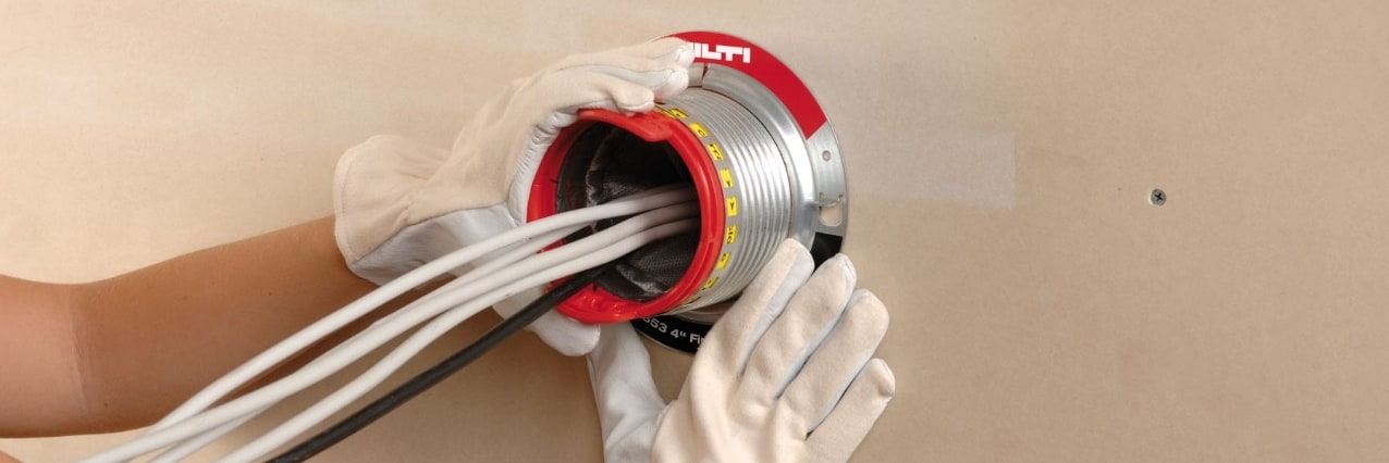 Hilti firestop for data management