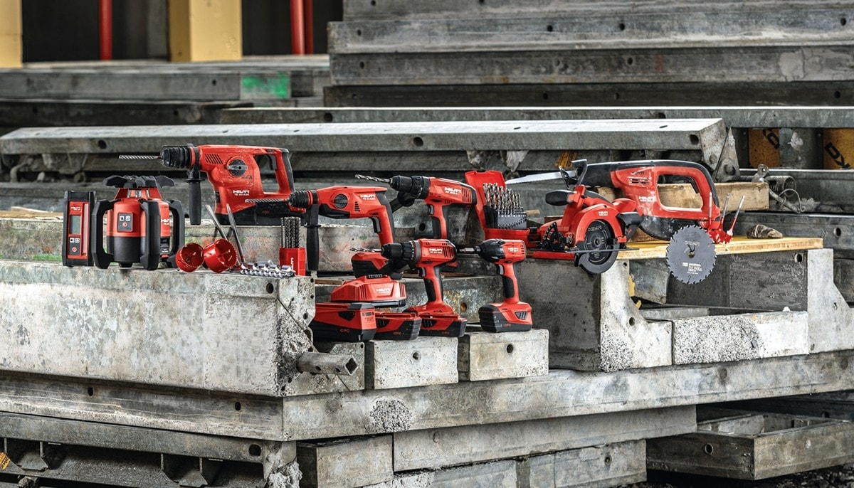 Hilti cordless tool solutions for every application