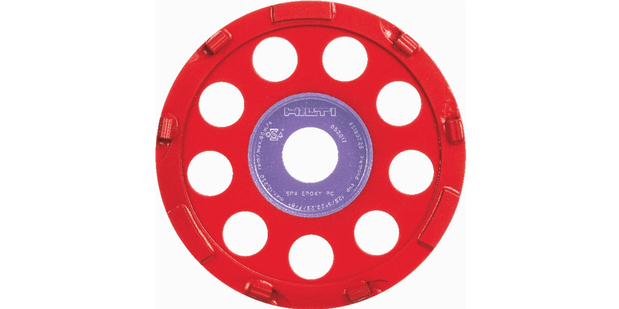Ultimate diamond cup wheel for removing all types of thick coatings including polyurethane, epoxy and plastics