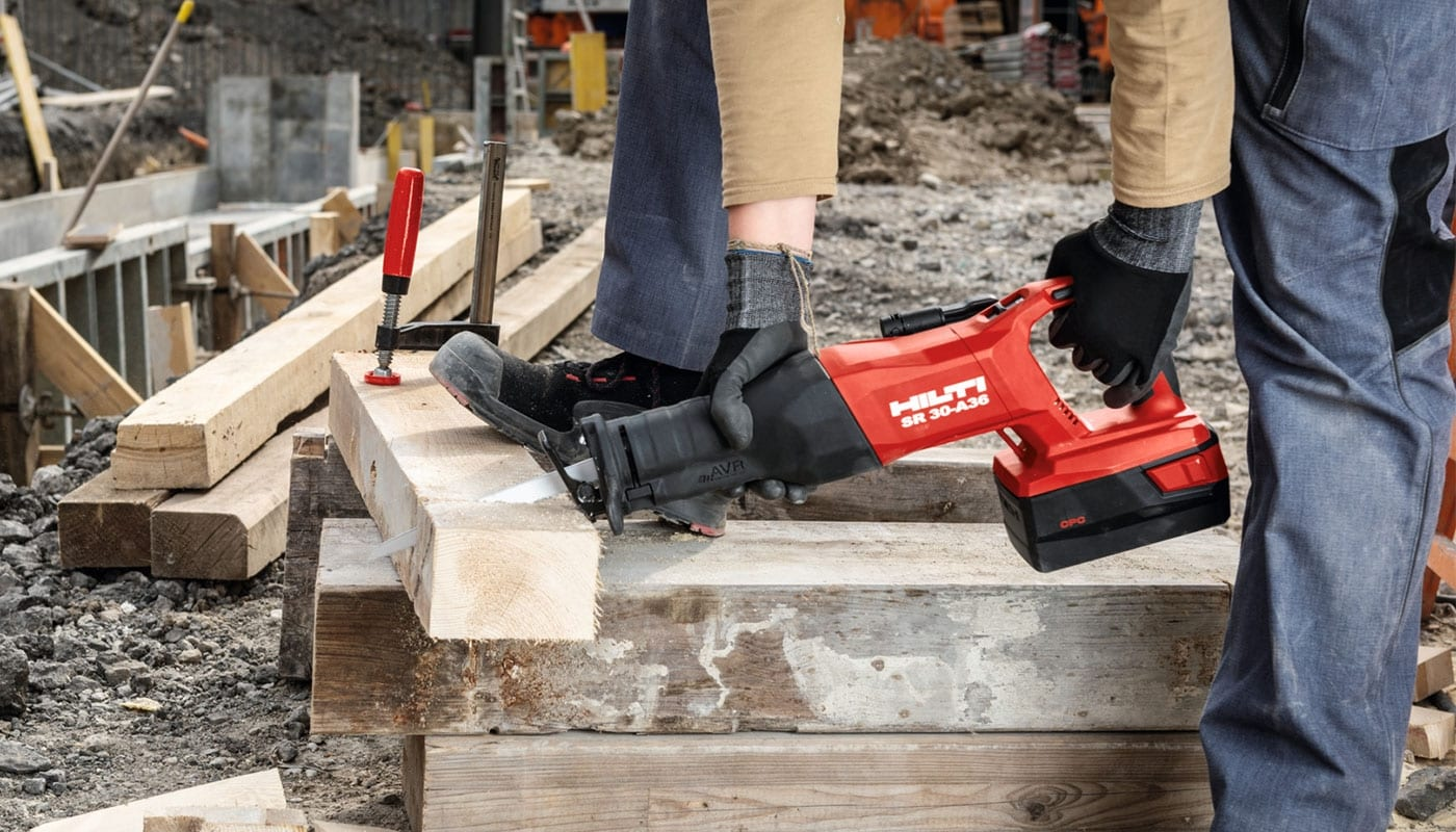 Introducing the SR 30-A36 Cordless Reciprocating saw for demolition