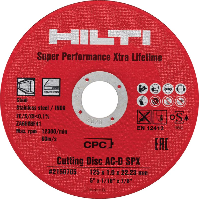 SPX cutting disc Ultimate abrasive cutting disc for metals offering extra-long lifetime and extra-high cutting speed