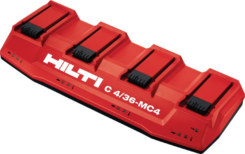 C4/36-MC4 Multi-voltage, multi-bay charger for all Hilti Li-ion batteries